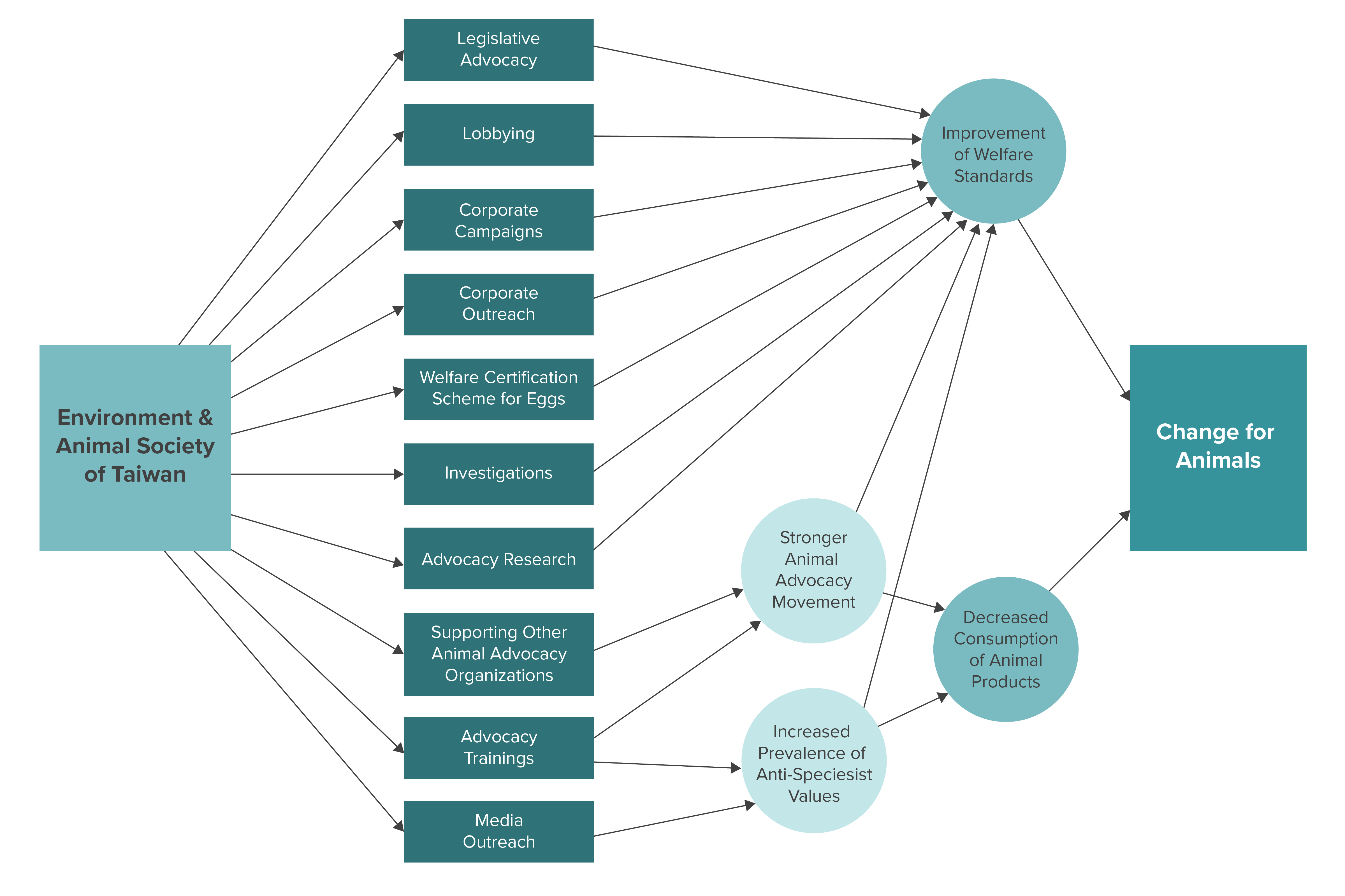 EAST Theory of Change Diagram